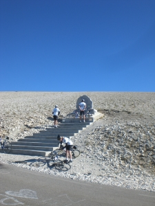 Simpson's memorial on Le Mont Ventoux