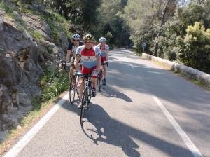 Climbing the Col de sa Batalla